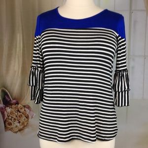 Emi & Joe Striped Knit Top